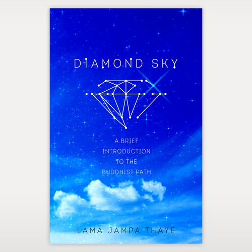 Meditation book cover with the title 'Logo for Diamond Sky'