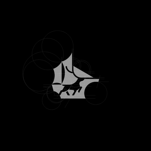 Simple logo with the title 'deer ship loogo'