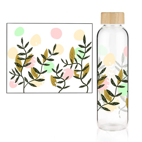 Bottle artwork with the title 'Design for bottle'