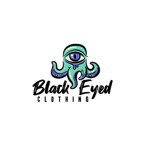 Scary logo with the title 'Clothing brand logo concept'
