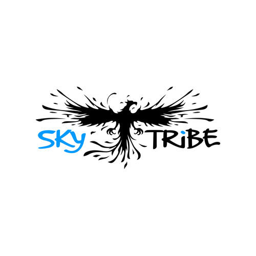 Flying logo with the title 'Sky Tribe Logo'