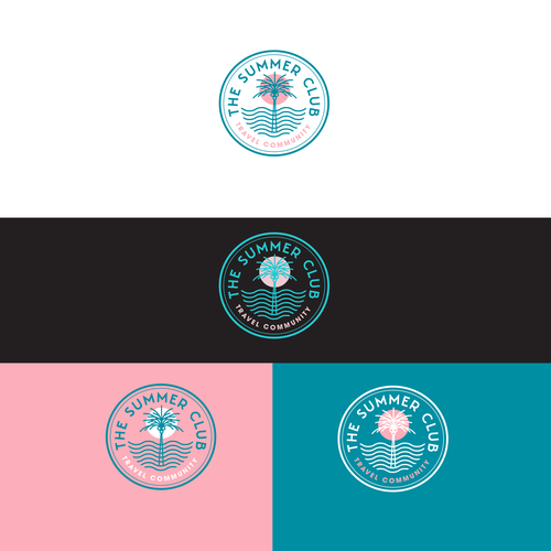 Coastal design with the title 'The Summer Club'