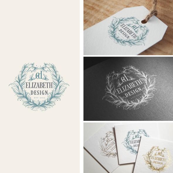 Wreath design with the title 'Elizabeth Design'