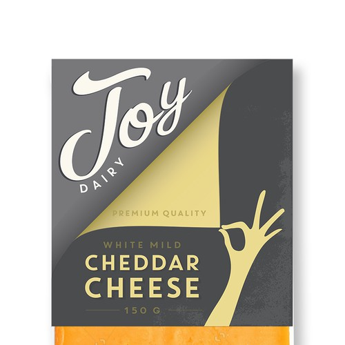 Cheese packaging with the title 'cheese label'