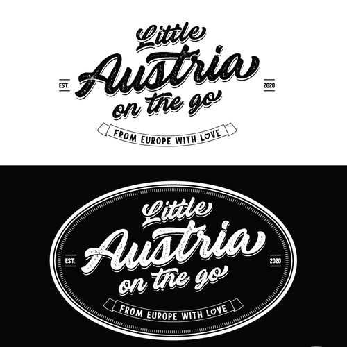 Food truck logo with the title 'logo for Little Austria'
