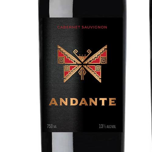 Beverage design with the title 'Chilean Wine Label Design'