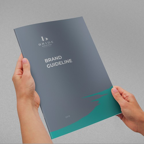 Jesus design with the title 'Brand Guide for Ministries'