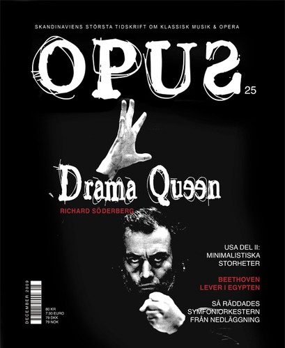 Cover logo with the title 'OPUS magazine | Cover template'