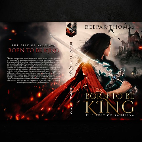 Castle design with the title 'Born to be King, by Deepak Thomas'