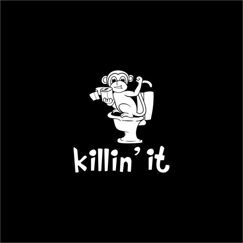 Fundraising logo with the title 'logo for killin it'