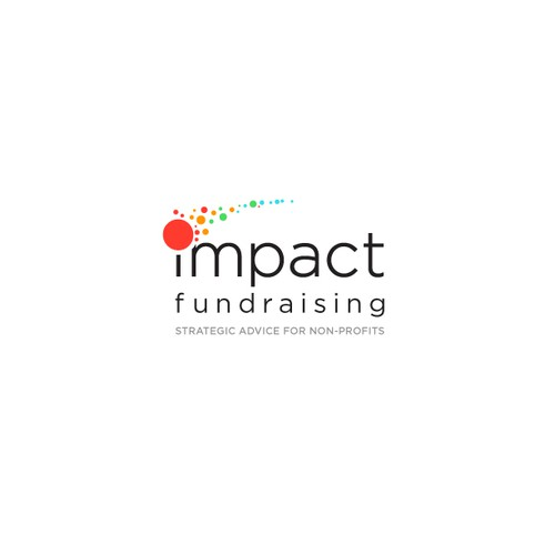 Dot logo with the title 'Logo Design for Impact Fundraising'