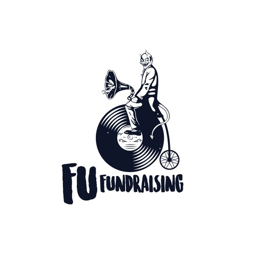 Ink logo with the title 'Stand out logo design for Fu Fundraising'