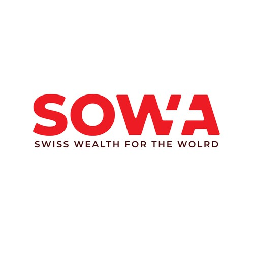 Government logo with the title 'Negative Space logo concept for SOWA'