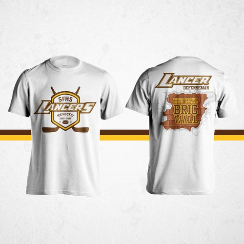 Hockey t-shirt with the title 'SFHS Lancers Ice Hockey t-shirt'