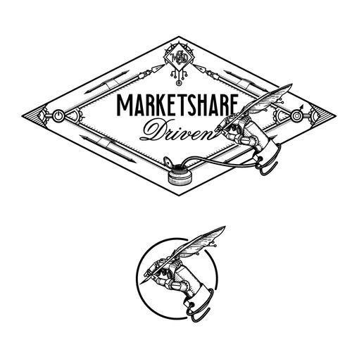 Gold frame logo with the title 'MarketShare Driven'