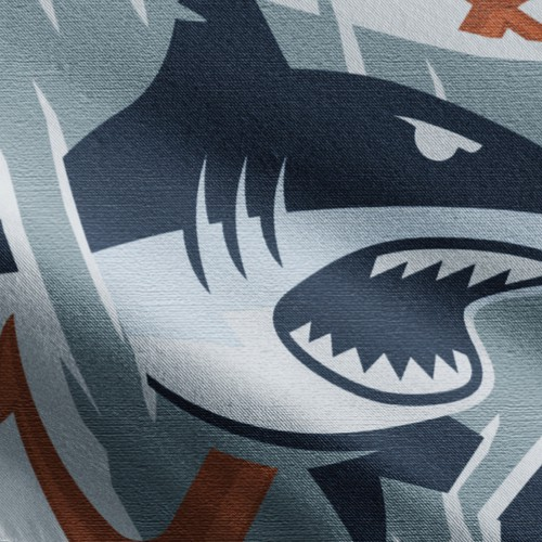 Mascot logo with the title 'Badass shark logo design'