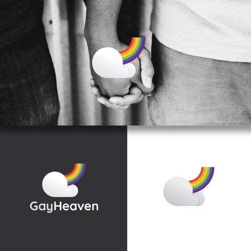 LGBT+ design with the title 'A Fun and Quirky Logo Design for Gay-Dating Site'