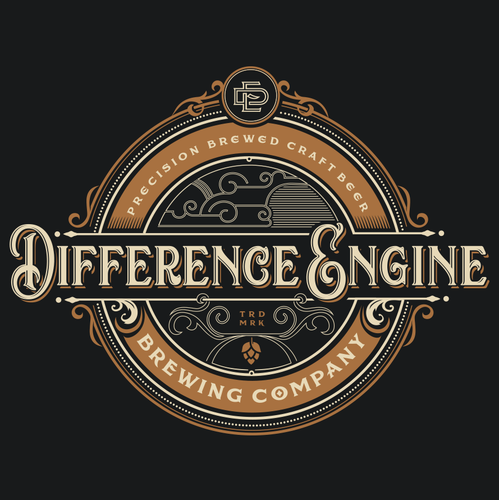 Brewing company logo with the title 'brewery logo'
