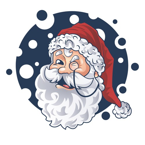 Santa artwork with the title 'Character or mascot contest entry'