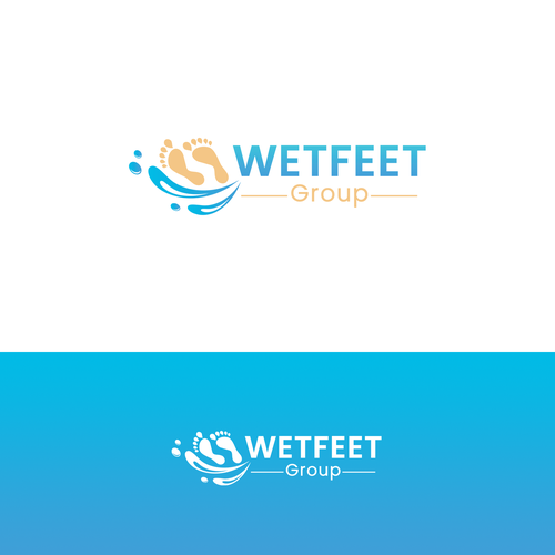 "Sand logo with the title '""WETFEET Group"" Logo '"