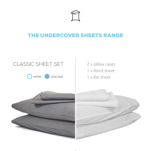 Pillow design with the title 'Kickstarter page design'