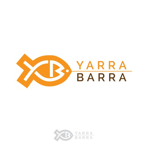 Seafood logo with the title 'Winning logo concept for Yarra Barra'