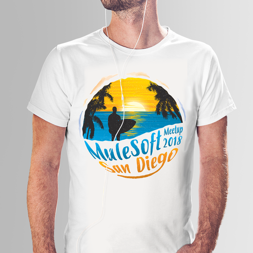 Surfing t-shirt with the title 'Surf-Inspired Design for a Meetup '
