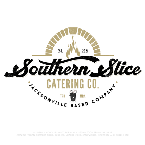 Catering design with the title 'Bold logo concept for Southern Slice catering-co'