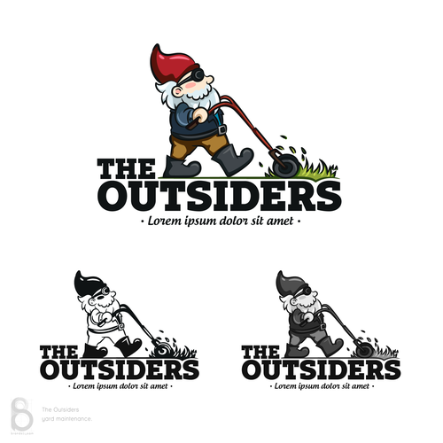 Grass design with the title 'Logo design for The Outsiders'