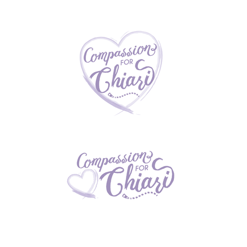Brush and comb logo with the title 'Watercolor Heart Logo'