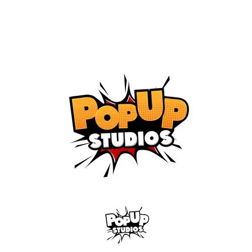 Studio design with the title 'Popup Studio'