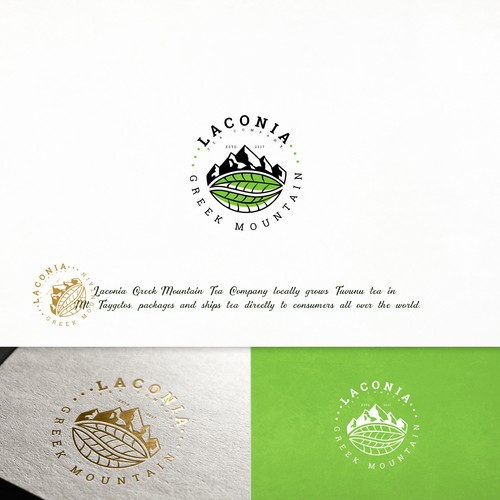 Drink brand with the title 'Logo and branding for Laconia'
