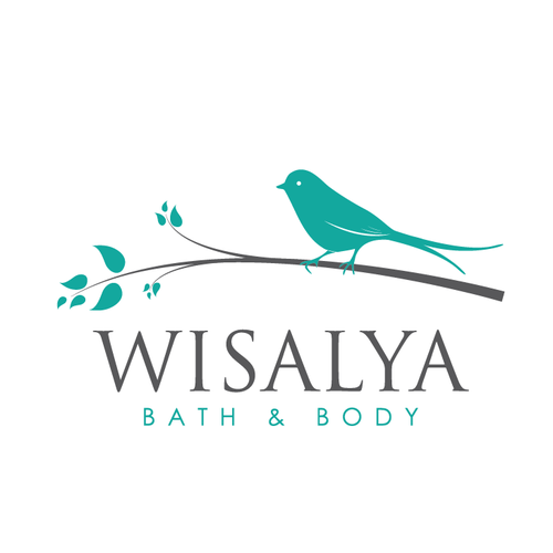 Wellness design with the title 'simple elegant bird logo'