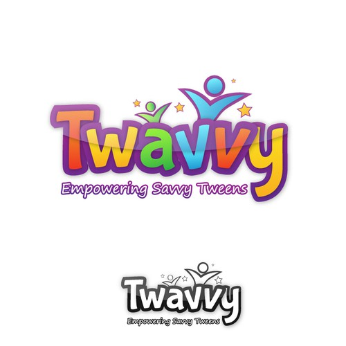 Blue and green logo with the title 'Twavvy needs a savvy Logo!'