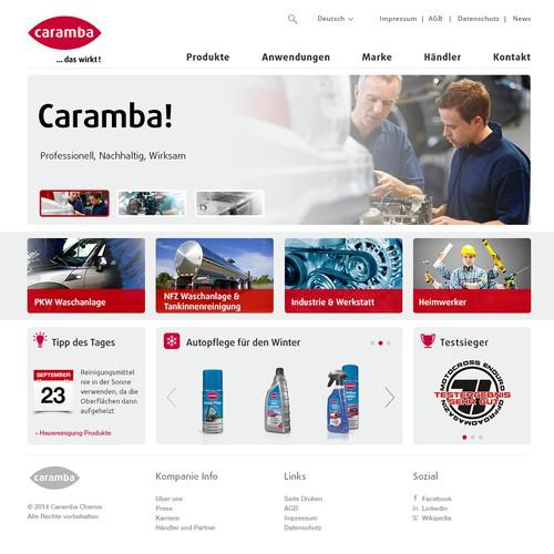 """Mechanic design with the title 'Webseiten Layout für eine """"Marke des Jahrhunderts""""'"""