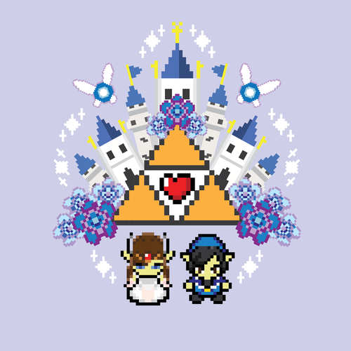 Link design with the title 'Legend of Zelda themed wedding'