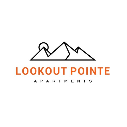 Apartment design with the title 'Logo Design for Lookout Pointe Apartments'