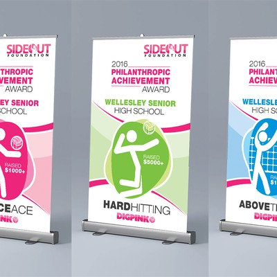 Rollup banner for a Philanthropic Awards event