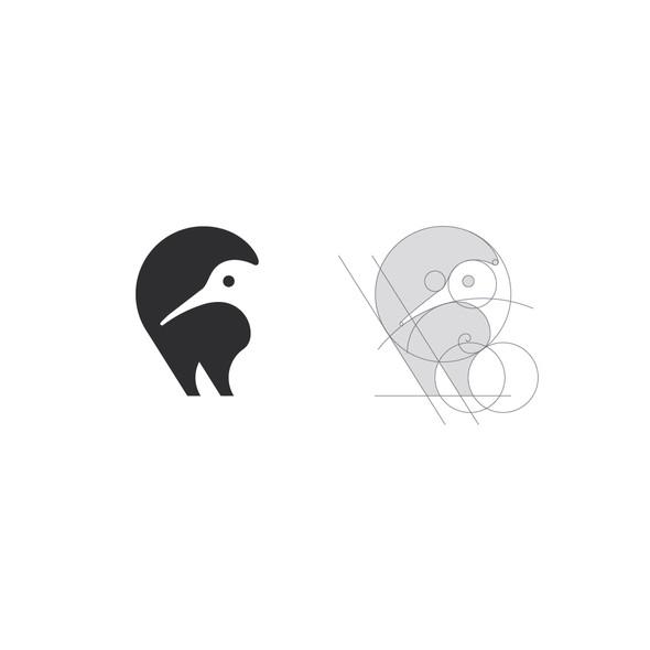 Kiwi logo with the title 'LOGO DESIGN'
