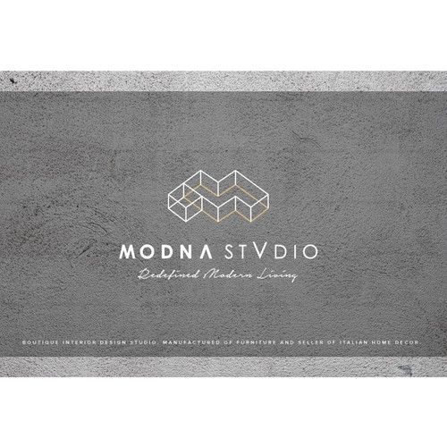 M design with the title 'Logo for Boutique Interior Design Studio'