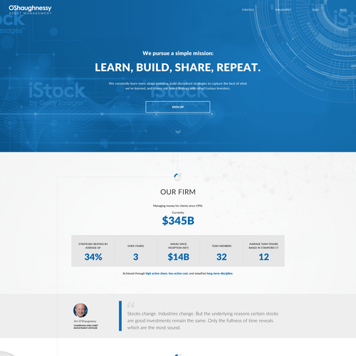 Stock design with the title 'Simple web design for asset menagement firm'