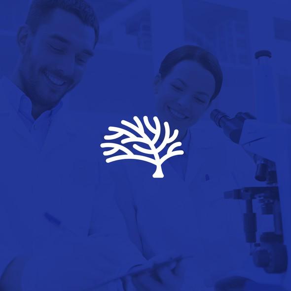 Oak design with the title 'BlueOak pharmaceuticals logo'
