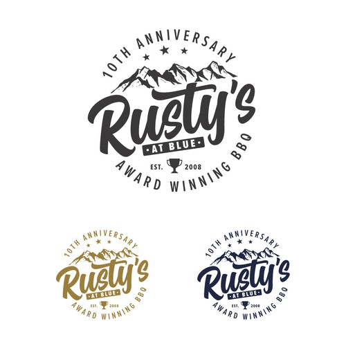 Trophy design with the title 'Rusty's Logo'