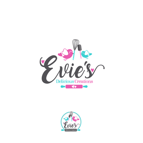 Mother's Day logo with the title 'Logo | Evie's'