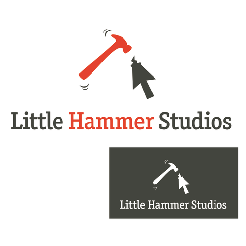 Web design logo with the title 'Little Hammer Studios logo'