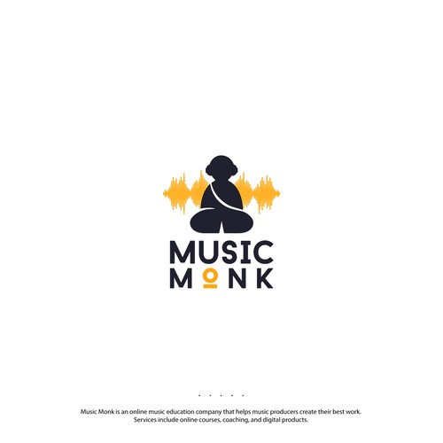 Monk logo with the title 'Logo for an online music education company'