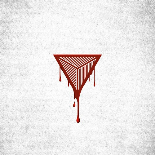 Eye design with the title 'Logo design for BleedTrinity'