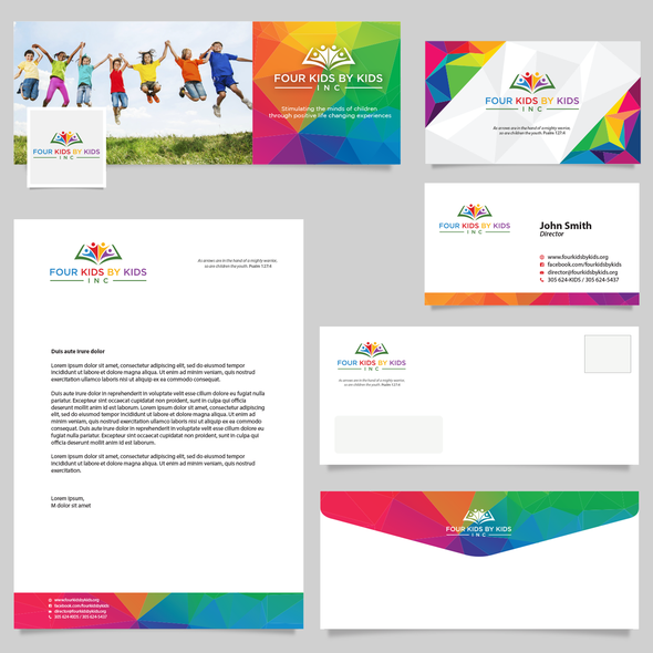 Envelope design with the title 'Brand Identity Pack'