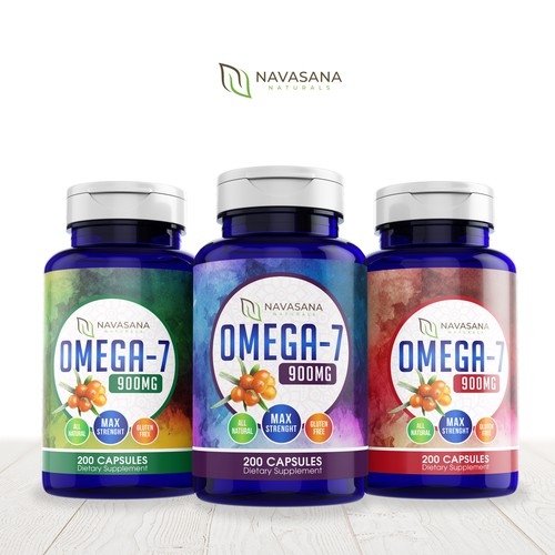 Pharmaceutical label with the title 'Design a Creative Supplement Label for New Brand'