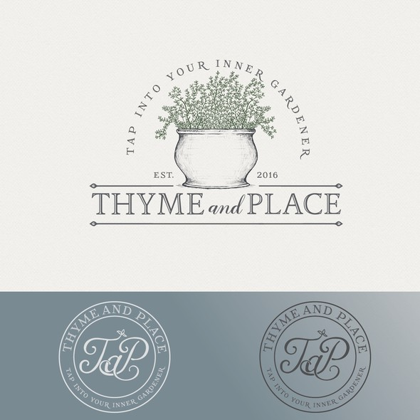 Garden brand with the title 'Thyme and Place'